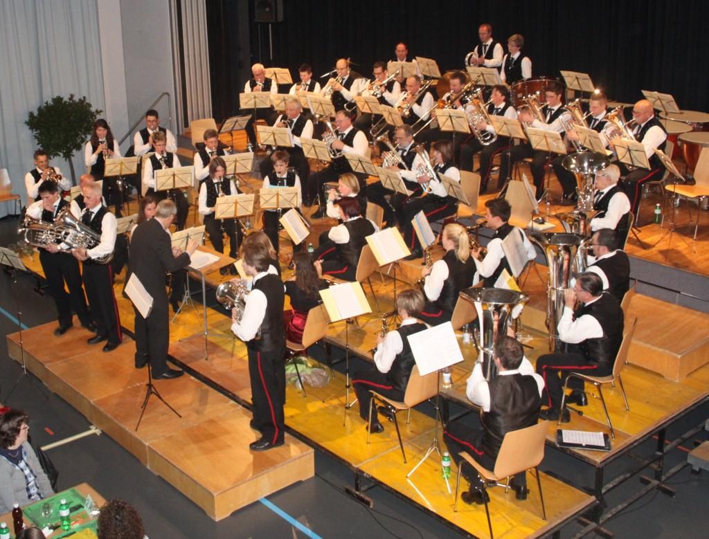 Die MGR am Jahreskonzert 2013 (Foto: Melanie Leuenberger)