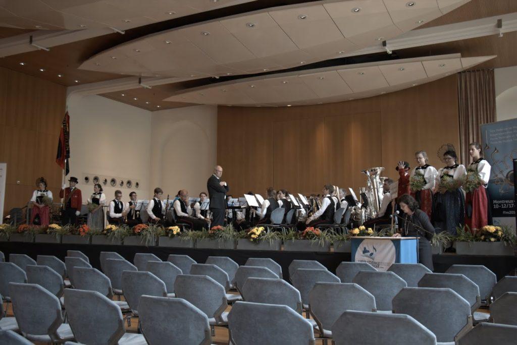 Bereit für den Konzertvortrag